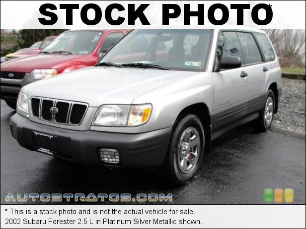Stock photo for this 2002 Subaru Forester 2.5 L 2.5 Liter SOHC 16-Valve Flat 4 Cylinder 4 Speed Automatic