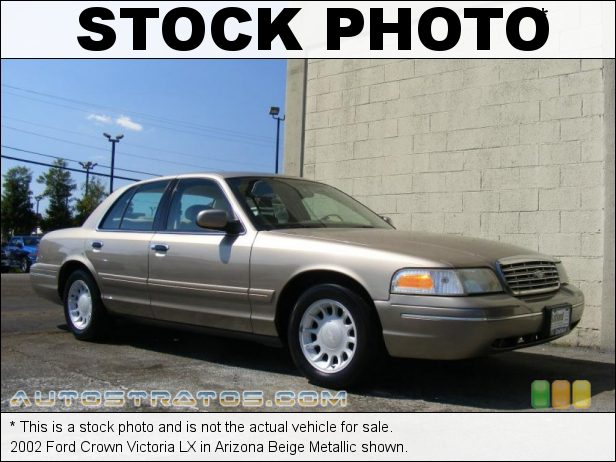 Stock photo for this 2002 Ford Crown Victoria LX 4.6 Liter SOHC 16-Valve V8 4 Speed Automatic
