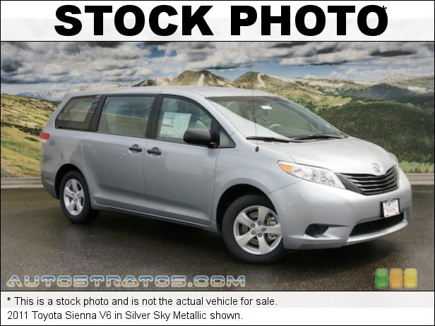 Stock photo for this 2011 Toyota Sienna V6 3.5 Liter DOHC 24-Valve VVT-i V6 6 Speed ECT-i Automatic