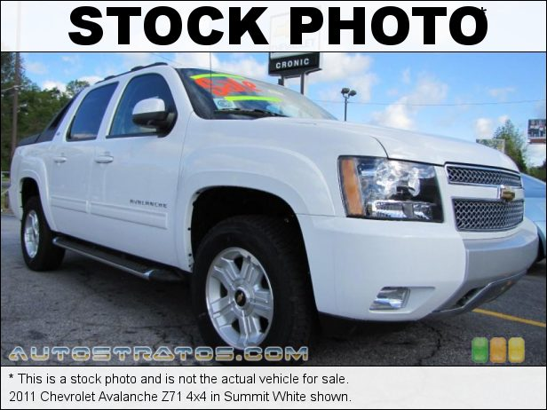 Stock photo for this 2011 Chevrolet Avalanche 4x4 5.3 Liter OHV 16-Valve Flex-Fuel Vortec V8 6 Speed Automatic
