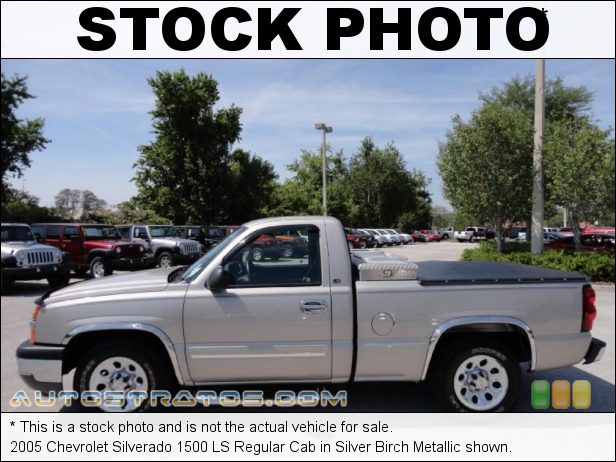 Stock photo for this 2005 Chevrolet Silverado 1500 Regular Cab 5.3 Liter OHV 16-Valve Vortec V8 4 Speed Automatic