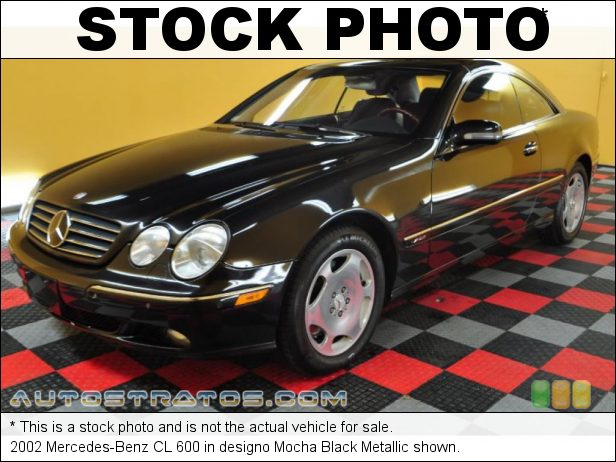 Stock photo for this 2002 Mercedes-Benz CL 600 5.8 Liter SOHC 36-Valve V12 5 Speed Automatic