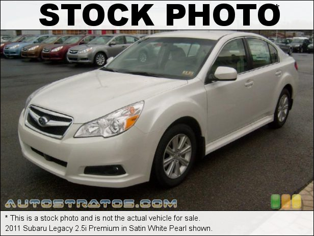 Stock photo for this 2011 Subaru Legacy 2.5i Premium 2.5 Liter SOHC 16-Valve VVT Flat 4 Cylinder Lineartronic CVT Automatic