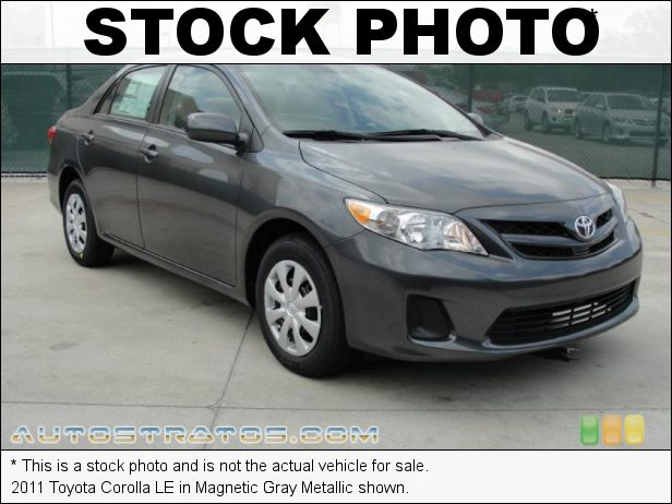 Stock photo for this 2011 Toyota Corolla LE 1.8 Liter DOHC 16-Valve Dual-VVTi 4 Cylinder 4 Speed ECT-i Automatic