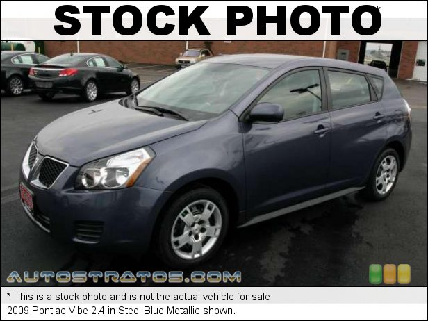 Stock photo for this 2009 Pontiac Vibe 2.4 2.4 Liter DOHC 16V VVT-i 4 Cylinder 5 Speed Automatic