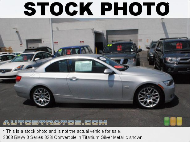 Stock photo for this 2008 BMW 3 Series 328i Convertible 3.0L DOHC 24V VVT Inline 6 Cylinder 6 Speed Manual