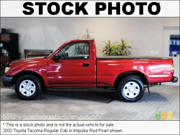 Stock photo for this 2002 Toyota Tacoma Regular Cab 2.4 Liter DOHC 16-Valve 4 Cylinder 4 Speed Automatic