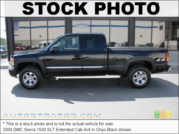 Stock photo for this 2004 GMC Sierra 1500 SLT Extended Cab 4x4 5.3 Liter OHV 16-Valve Vortec V8 4 Speed Automatic