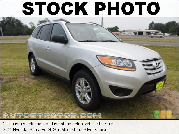 Stock photo for this 2011 Hyundai Santa Fe GLS 2.4 Liter DOHC 16-Valve VVT 4 Cylinder 6 Speed Shiftronic Automatic