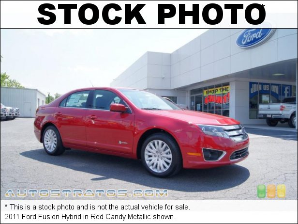 Stock photo for this 2011 Ford Fusion Hybrid 2.5 Liter Atkinson Cycle DOHC 16-Valve VVT 4 Cylinder Gasoline/E eCVT Automatic