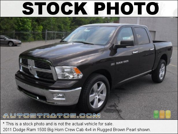 Stock photo for this 2011 Dodge Ram 1500 Big Horn Crew Cab 4x4 5.7 Liter HEMI OHV 16-Valve VVT MDS V8 5 Speed Automatic