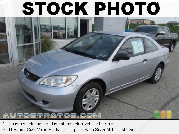 Stock photo for this 2004 Honda Civic Value Package Coupe 1.7L SOHC 16V VTEC 4 Cylinder 4 Speed Automatic