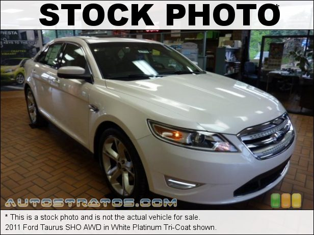 Stock photo for this 2011 Ford Taurus SHO AWD 3.5 Liter GTDI EcoBoost Twin-Turbocharged DOHC 24-Valve VVT V6 6 Speed SelectShift Automatic