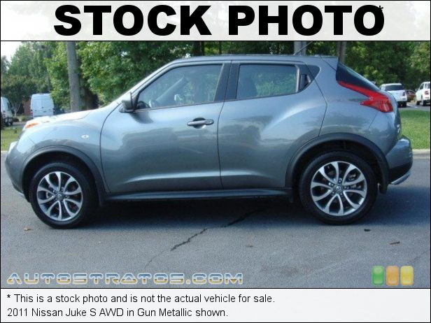 Stock photo for this 2011 Nissan Juke S AWD 1.6 Liter DIG Turbocharged DOHC 16-Valve 4 Cylinder Xtronic CVT Automatic
