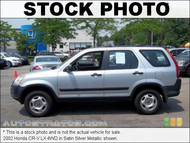 Stock photo for this 2002 Honda CR-V LX 4WD 2.4 Liter DOHC 16-Valve i-VTEC 4 Cylinder 4 Speed Automatic