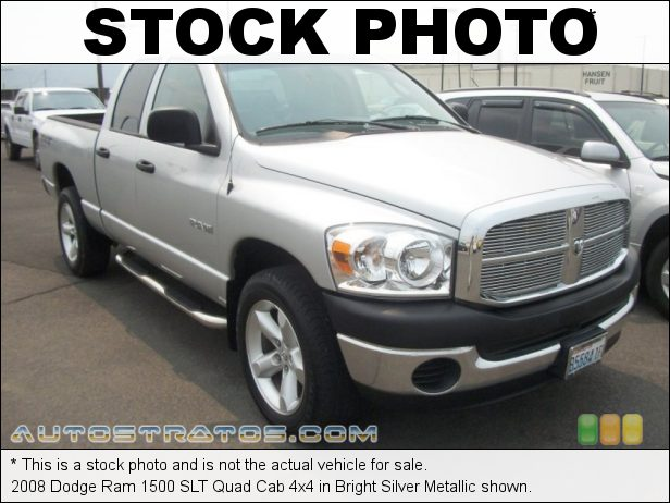 Stock photo for this 2008 Dodge Ram 1500 SLT Quad Cab 4x4 4.7 Liter SOHC 16-Valve Flex Fuel Magnum V8 5 Speed Automatic