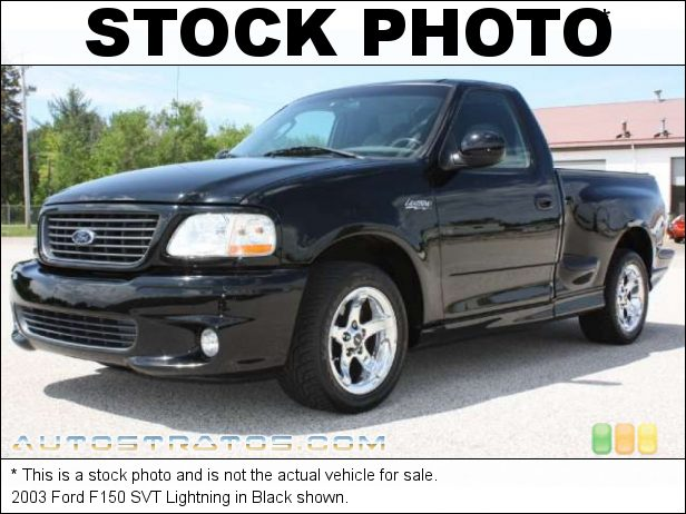 Stock photo for this 2003 Ford F150 SVT Lightning 5.4 Liter SVT Supercharged SOHC 16-Valve Triton V8 4 Speed Automatic