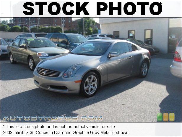 Stock photo for this 2003 Infiniti G 35 Coupe 3.5 Liter DOHC 24-Valve VVT V6 5 Speed Automatic