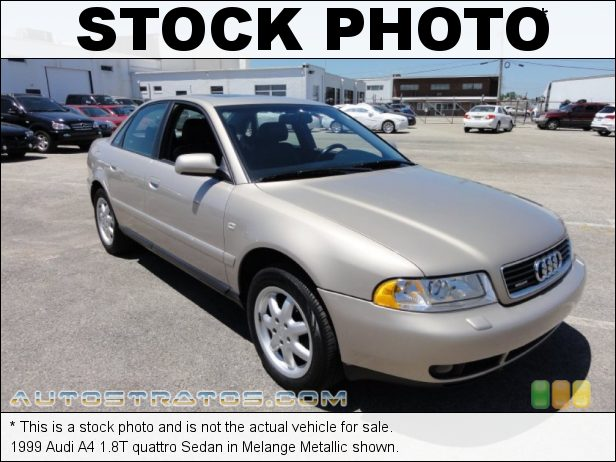 Stock photo for this 1998 Audi A4 1.8T quattro Sedan 1.8 Liter Turbocharged DOHC 20-Valve 4 Cylinder 5 Speed Tiptronic Automatic