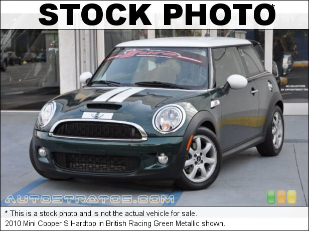 Stock photo for this 2010 Mini Cooper S Hardtop 1.6 Liter Turbocharged DOHC 16-Valve VVT 4 Cylinder 6 Speed Manual