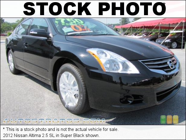 Stock photo for this 2012 Nissan Altima 2.5 SL 2.5 Liter DOHC 16-Valve CVTCS 4 Cylinder Xtronic CVT Automatic