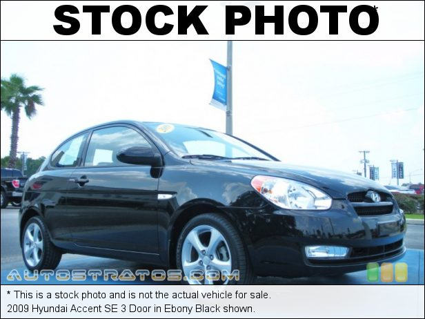 Stock photo for this 2009 Hyundai Accent SE 3 Door 1.6 Liter DOHC-16 Valve CVVT 4 Cylinder 4 Speed Automatic