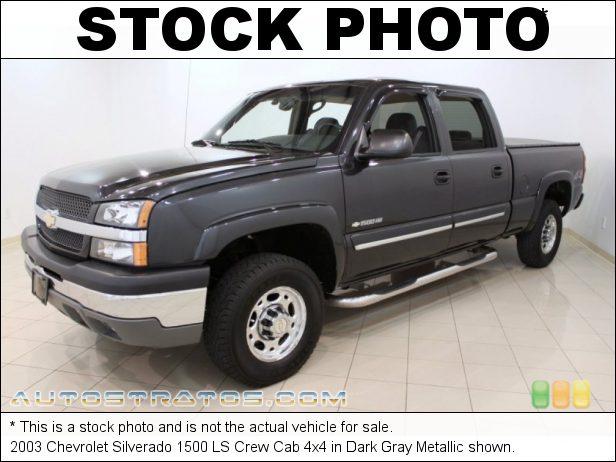 Stock photo for this 2003 Chevrolet Silverado 1500 LS Crew Cab 4x4 6.0 Liter OHV 16-Valve Vortec V8 4 Speed Automatic