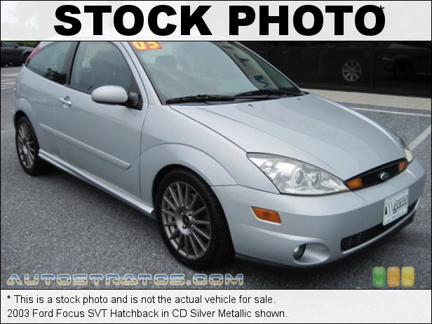Stock photo for this 2003 Ford Focus SVT Hatchback 2.0 Liter SVT DOHC 16-Valve VVT 4 Cylinder 6 Speed Manual