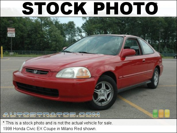 Stock photo for this 1998 Honda Civic EX Coupe 1.6 Liter SOHC 16V VTEC 4 Cylinder 4 Speed Automatic