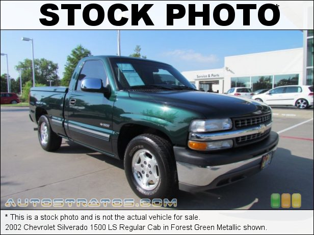 Stock photo for this 2002 Chevrolet Silverado 1500 Regular Cab 4.8 Liter OHV 16 Valve Vortec V8 4 Speed Automatic