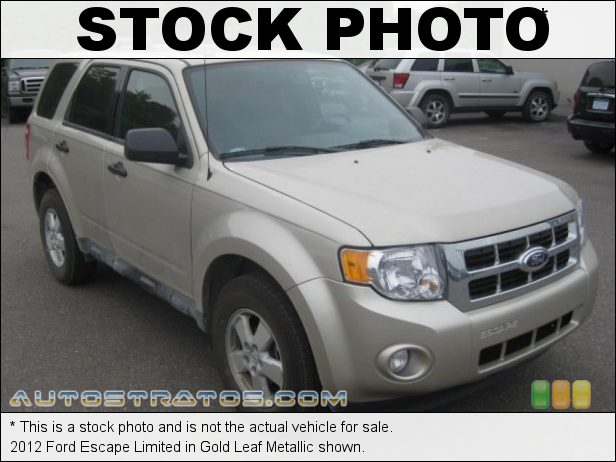 Stock photo for this 2012 Ford Escape Limited 2.5 Liter DOHC 16-Valve Duratec 4 Cylinder 6 Speed Automatic