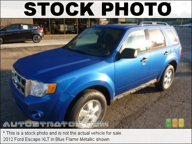 Stock photo for this 2012 Ford Escape XLT 2.5 Liter DOHC 16-Valve Duratec 4 Cylinder 6 Speed Automatic
