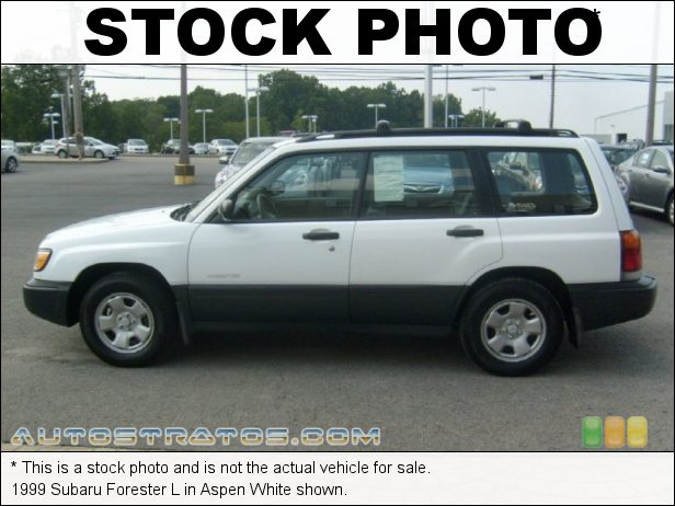 Stock photo for this 1999 Subaru Forester L 2.5 Liter SOHC 16-Valve Flat 4 Cylinder 4 Speed Automatic
