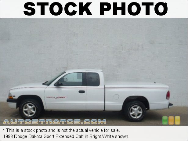 Stock photo for this 1998 Dodge Dakota Extended Cab 3.9 Liter OHV 12-Valve V6 5 Speed Manual