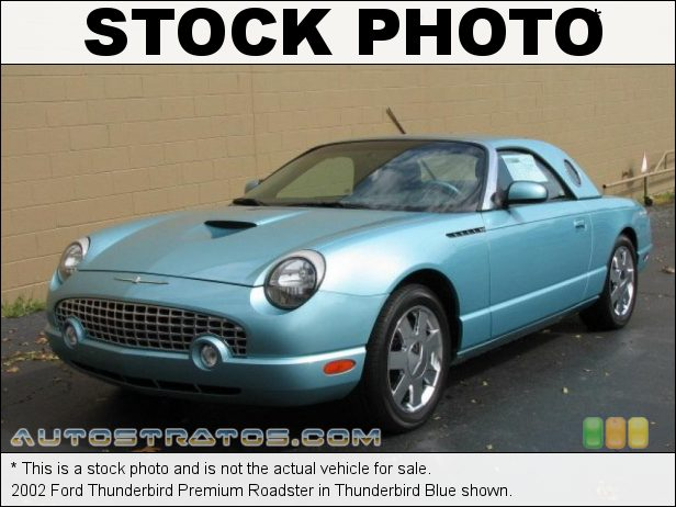 Stock photo for this 2002 Ford Thunderbird Roadster 3.9 Liter DOHC 32-Valve V8 5 Speed Automatic