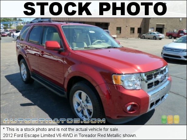 Stock photo for this 2012 Ford Escape Limited V6 4WD 3.0 Liter DOHC 24-Valve Duratec Flex-Fuel V6 6 Speed Automatic