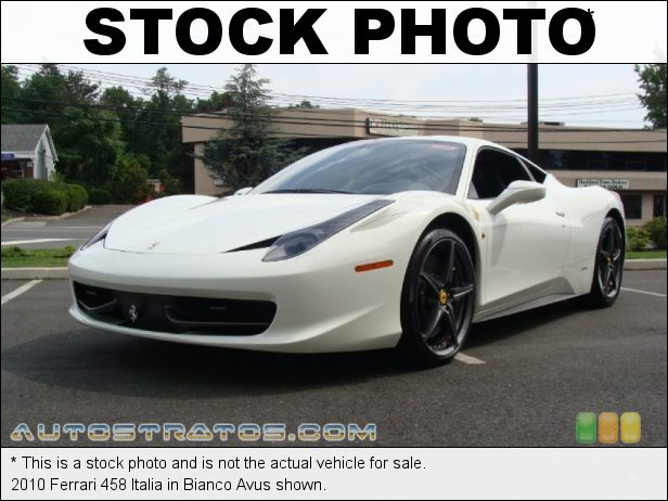 Stock photo for this 2010 Ferrari 458 Italia  4.5 Liter GDI DOHC 32-Valve VVT V8 7 Speed F1 Dual-clutch Automatic