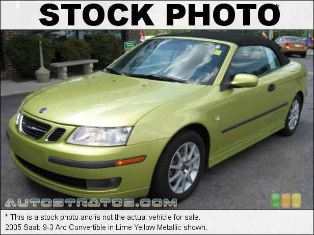 Stock photo for this 2005 Saab 9-3 Arc Convertible 2.0 Liter Turbocharged DOHC 16V 4 Cylinder 5 Speed Manual