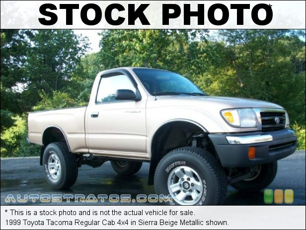 Stock photo for this 1998 Toyota Tacoma Regular Cab 4x4 2.7 Liter DOHC 16-Valve 4 Cylinder 5 Speed Manual