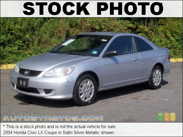 Stock photo for this 2004 Honda Civic LX Coupe 1.7L SOHC 16V VTEC 4 Cylinder 4 Speed Automatic
