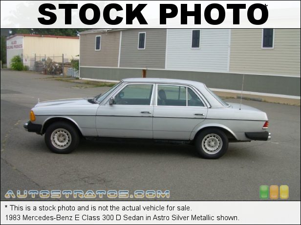Stock photo for this 1983 Mercedes-Benz E Class 300 D Sedan 3.0 Liter SOHC 10-Valve Diesel 5 Cylinder Automatic