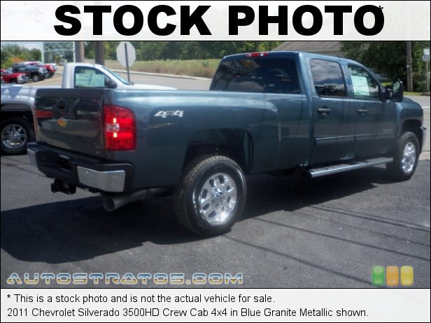 Stock photo for this 2011 Chevrolet Silverado 3500HD Crew Cab 4x4 6.6 Liter OHV 32-Valve Duramax Turbo-Diesel V8 6 Speed Allison Automatic