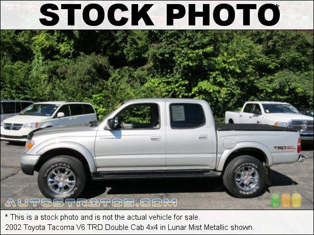 Stock photo for this 2002 Toyota Tacoma V6 Double Cab 4x4 3.4 Liter DOHC 24-Valve V6 4 Speed Automatic