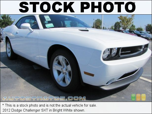 Stock photo for this 2012 Dodge Challenger SXT 3.6 Liter DOHC 24-Valve VVT Pentastar V6 5 Speed AutoStick Automatic