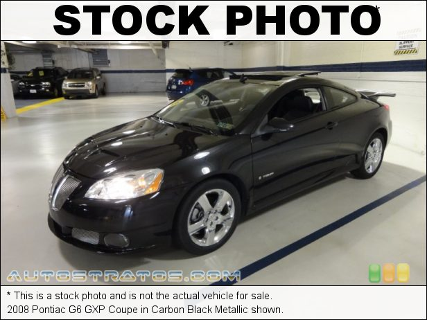 Stock photo for this 2008 Pontiac G6 GXP Coupe 3.6 Liter GXP DOHC 24-Valve VVT V6 6 Speed Automatic
