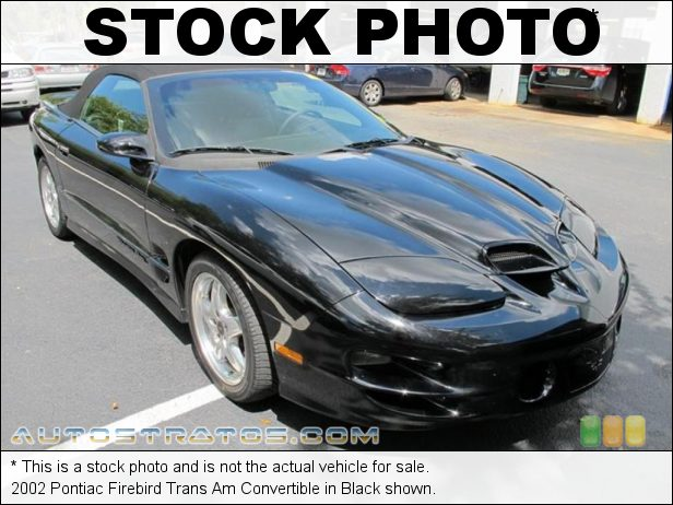 Stock photo for this 2002 Pontiac Firebird Trans Am Convertible 5.7 Liter OHV 16-Valve LS1 V8 6 Speed Manual