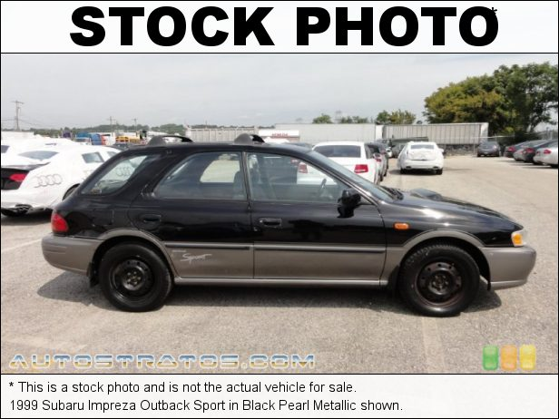 Stock photo for this 1999 Subaru Impreza Outback Sport 2.2 Liter SOHC 16-Valve Flat 4 Cylinder 4 Speed Automatic