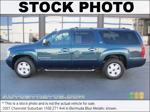 Stock photo for this 2007 Chevrolet Suburban 1500 4x4 5.3 Liter OHV 16-Valve Vortec V8 4 Speed Automatic