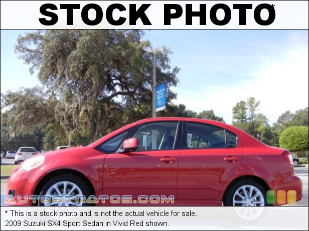 Stock photo for this 2009 Suzuki SX4 Sedan 2.0 Liter DOHC 16-Valve 4 Cylinder 5 Speed Manual