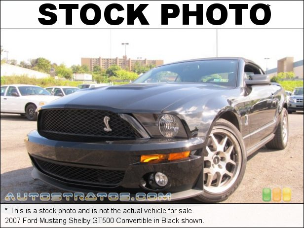 Stock photo for this 2007 Ford Mustang Shelby GT500 Convertible 5.4 Liter Supercharged DOHC 32-Valve V8 6 Speed Manual